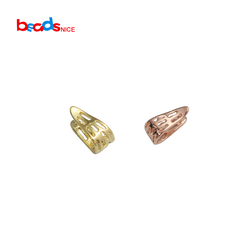 Beadsnice ID3028smt1 50pcs lot Brass Pinch Bails Pendant Bail Ice Pick Bail for Necklace Making in Jewelry Findings Components from Jewelry Accessories