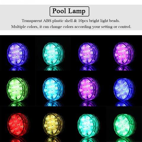 2Set LED Multi-color RGB Pool Light Waterproof Underwater Light Swiming Pool Lamp With Remote Controller Multan