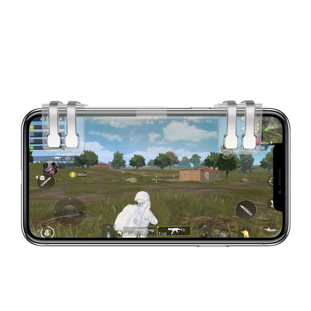 For Pubg Mobile Controller L1 R1 Phone Gamepad Trigger Fire Button Aim Key l1r1 Shooter Pubg Controller For iphone Android