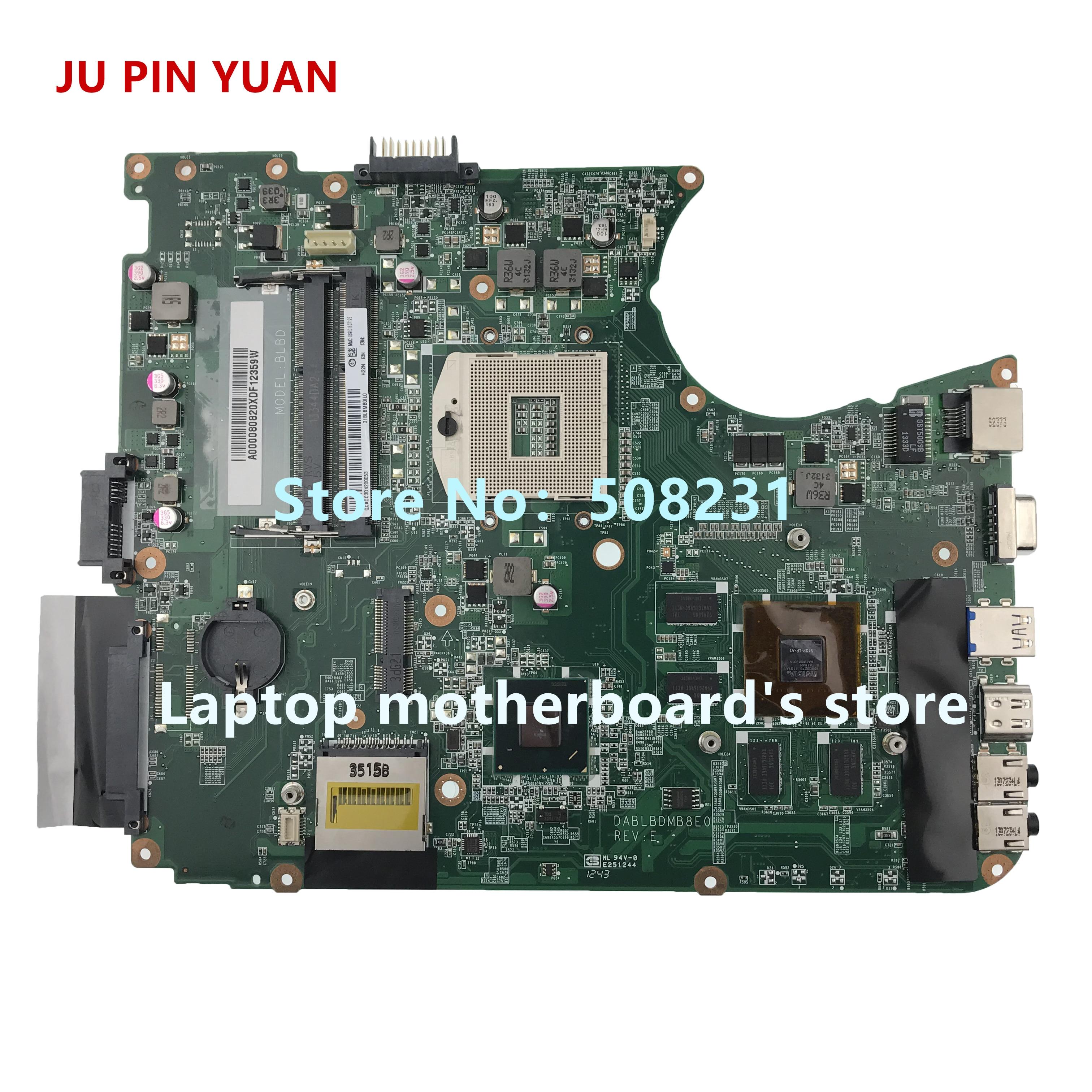 JU PIN YUAN For toshiba satellite L750 L755 laptop motherboard A000080820 DABLBDMB8E0 GT525M 1GB 100% fully TestedJU PIN YUAN For toshiba satellite L750 L755 laptop motherboard A000080820 DABLBDMB8E0 GT525M 1GB 100% fully Tested