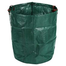 270L Garden Waste Bag Large Strong Waterproof Heavy Duty Reusable Foldable Rubbish Grass Sack