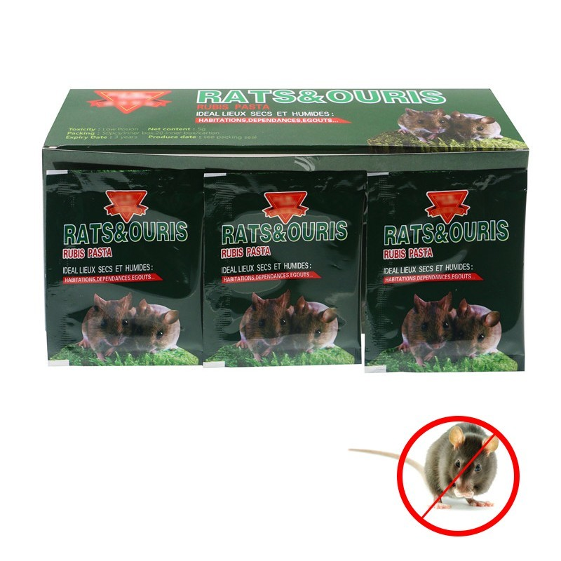 50pcs/lot Effective Mouse & Rat Poison Mice Killing Bait Rat Mice Powder Repeller Trap Pest Contronl Rat Poison Poisoning Kill