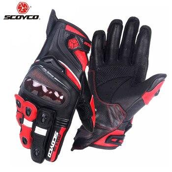 SCOYCO Professional Protective Riding Moto Motorcycle Gloves Male Motocross Motor Motorbike Glove Biker Bike Racing Gloves