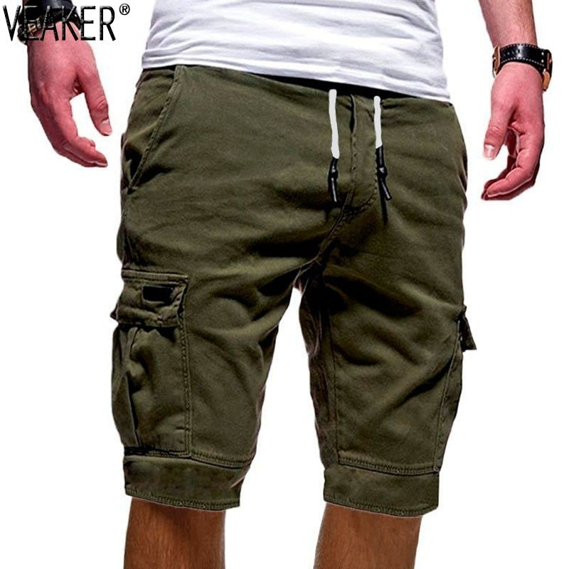 Banana Fiction,Black Cool Loose Seventh Casual Pants Basic Solid Cotton Classic Cropped Mid Waist 7th Shorts for Men