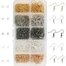 TOAOB 1150 шт. крючки для сережек 18 мм из нержавеющей стали и открытые кольца 4 мм для изготовления ювелирных изделий