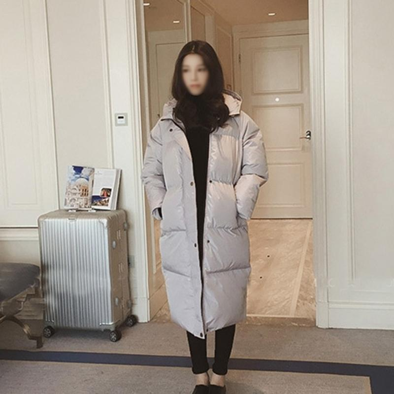 Autumn And Winter Wear New Korean Version Loose Hooded Long Thick Cotton Coat Women's Temperament Warm Cotton Clothing