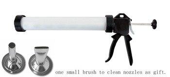 Jerky Blaster with 2pcs nozzles Jerky Gun Aluminum Tube Holds 1.5lbs of Ground Meat Jerky Blaster Jerky Cannon Jerky Cannon фото