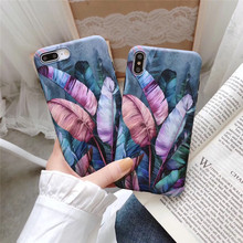 Ottwn Vintage Banana Leaf Phone cases For iPhone 6 6S 7 8 Plus X XR XS Max Colorful Soft Silicon Back Case Cover Capa