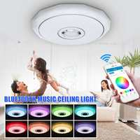 RGB Dimmable LED Ceiling Light With APP Control Bluetooth Speaker Music Ceiling Lights Lamp for Hotel Living Room Dining Room