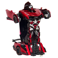 FB FUNNY BOX Kids Toy Transformer RC Robot Car Remote Control Car Toy(Red)