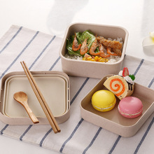 Portable Bamboo Fiber Lunch Box Bento Health and Safety 800-1000ML Microwaveable Food Leak-Proof Container