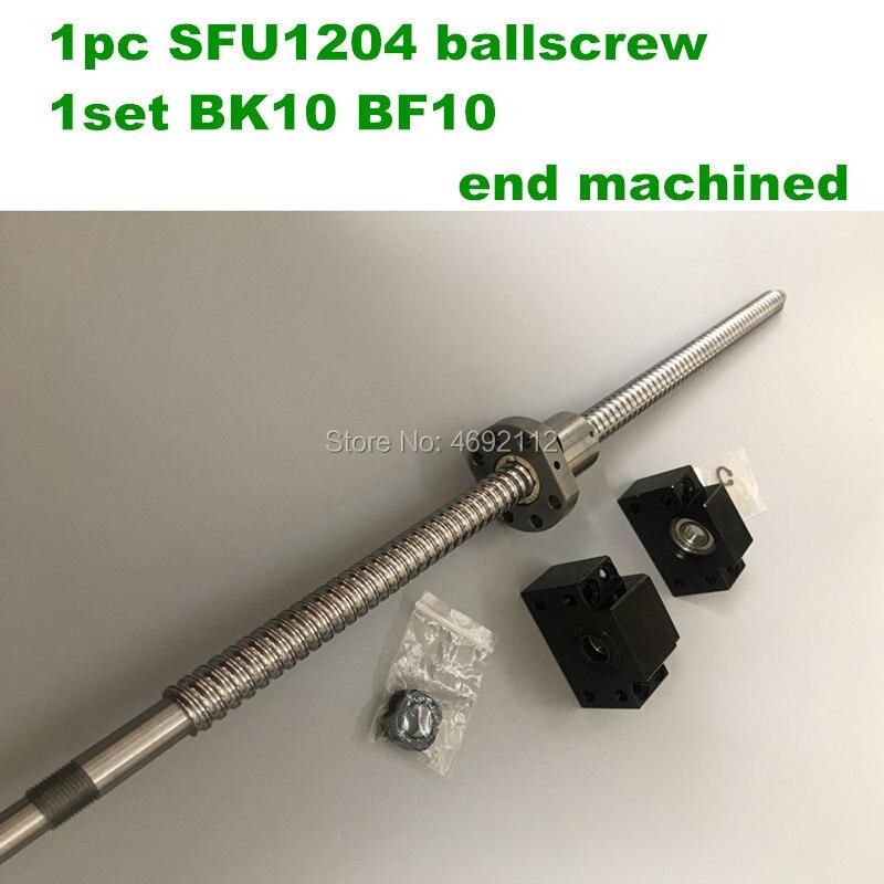 SFU/RM 1204 vis à billes 200 250 300 350 400 450 500 550 600mm + 1204 Ballnut + BK10 /BF10 Fin soutien CNC pièces