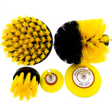 5 Pcs Car Detail Nylon Brush Set For wheel/Engine/home/bath/floor tile Auto Brushes Kit with 2 electric Grinding Disc