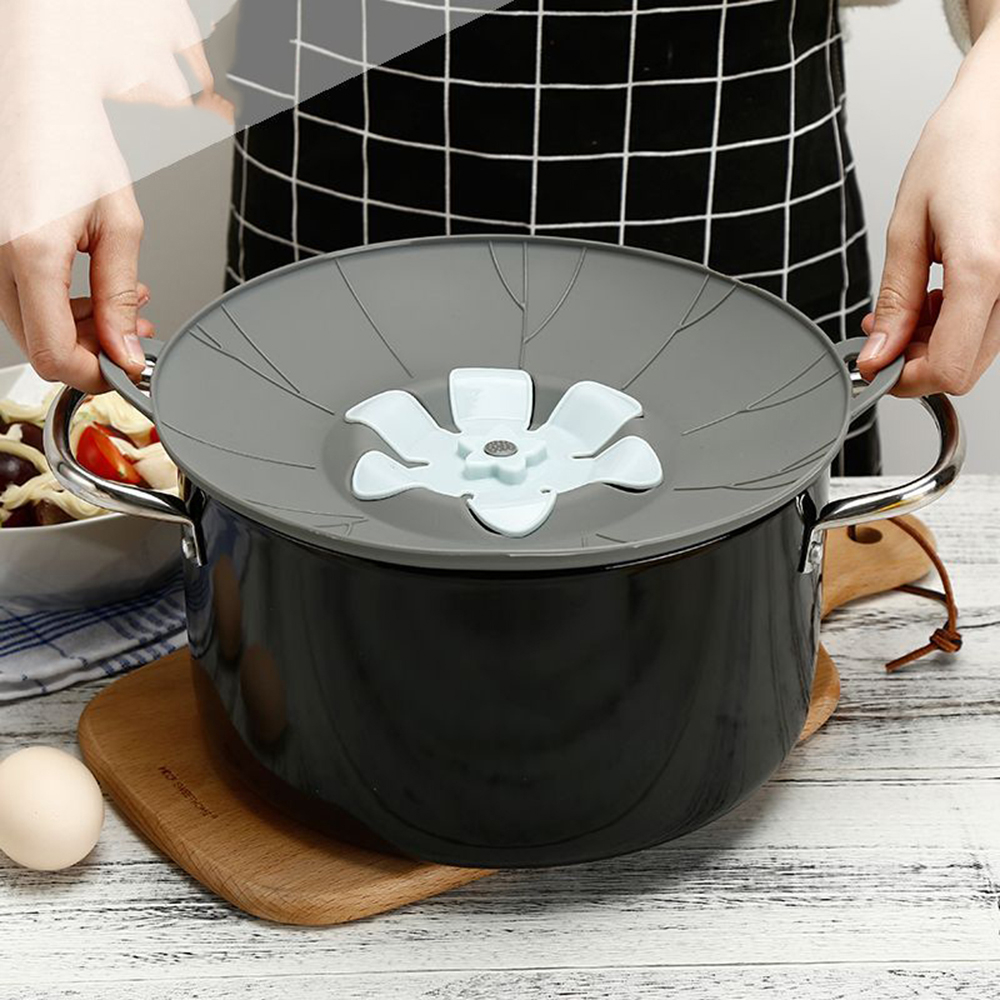 New Kitchen Gadgets Flower Silicone Lid Spill Stopper Pot Bowl Cover Anti-overflow Cooking Pot Lids Utensil For Cookware 2019