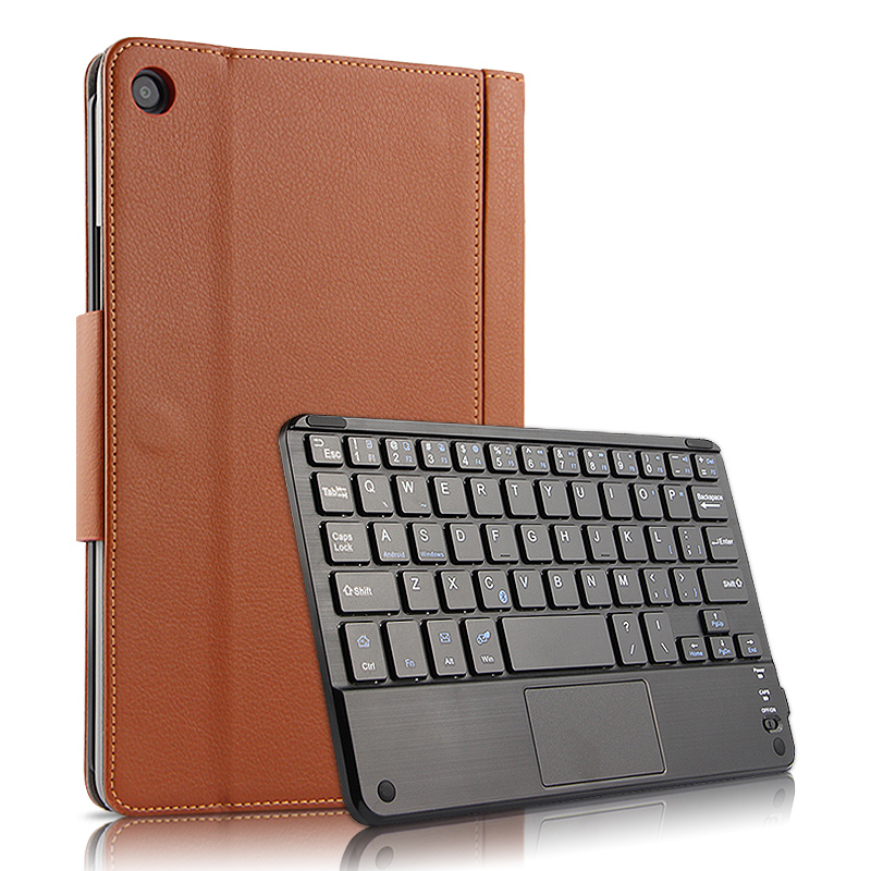 Pour Xiao mi Pad 4 Plus 10.1 ''étui en cuir PU Flip Stand sans fil tablette clavier couverture pour Xiao mi mi Pad 4 Plus 10.1 pouces étui