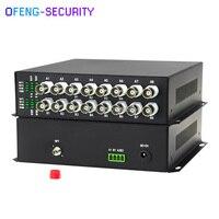 960 P/720 P 16CH Настольный видео оптический волоконный передатчик коаксиальный высокой четкости волоконно оптический приемник передачи сигнала