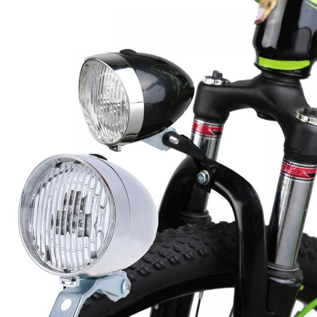 Retro Bicycle Bike 3 LED Front Light Headlight Vintage Flashlight Safety Headlamp Dark Night Lamp Flash Lighting Outdoor #3