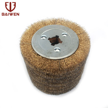цена на 5 Copper Coated Steel Wire Drawing Polishing Wheel For Burnishing Metal Removal Rust 0.15mm Wire
