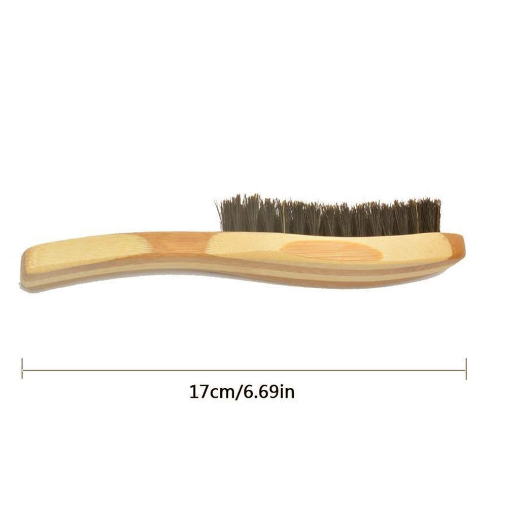 Image 2 - Beard Brush Boar Bristle for Men's Mustache Shaving Comb Face Massage Facial Hair Cleaning Brush Beech Long Handle-in Shaving Brush from Beauty & Health