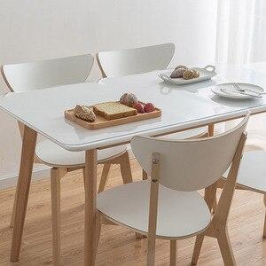Image 2 - لينة الزجاج قماش PVC مقاوم للماء مكافحة النفط الساخن البلاستيك شفاف مفرش المائدة منضدة طعام حديثة القماش/غطاء المطبخ