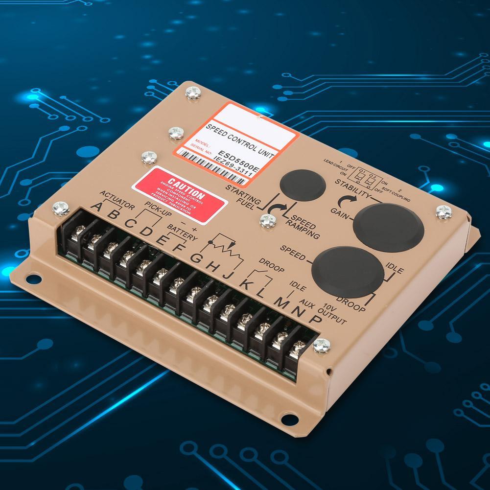 ESD5500E Generator Speed Controller Electronic Engine Speed Controller Governor Generator Controller Panel 1KHz 7 5KHz