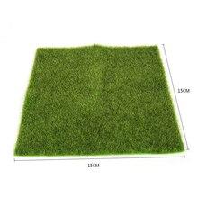 Mayitr Травяной коврик искусственная миниатюра газон трава коврик для сада орнамент кукольный домик ремесло Свадебная вечеринка украшения