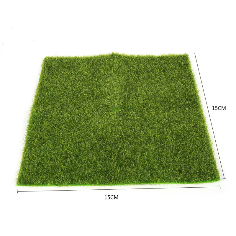 Mayitr Grass Mat Artificial Miniature Lawn Grass Mat For Garden Ornament Dollhouse Craft Wedding Party Decoration