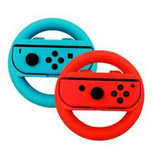 2pcs 1 Pair ABS Steering Wheel Handle Stand Holder for Nintend Switch Left Right Joy-Con Joycon NS NX Controller Gamepads(China)