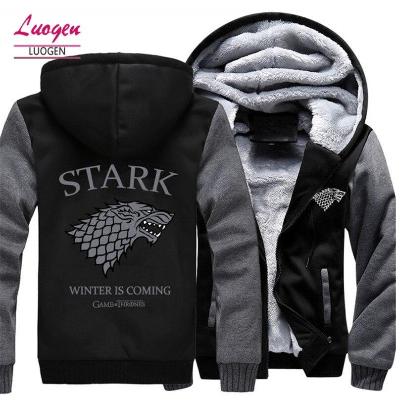 USA SZIE Game of Thrones imprimé vestes pour hommes hiver épaissir polaire chaud hommes sweat à capuche pour femme Sweatshirts Zipper à capuche manteaux nouveau