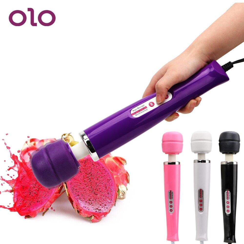 OLO Tamanho Grande Vibrador AV Varinha Mágica Vara Massageador de Mama Brinquedos Sexuais para As Mulheres Vibrador 12 Velocidade Clitóris Estimulador
