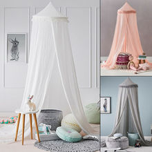 PUDCOCO Round Dome Baby Infant Mosquito Net Toddler Bed Crib Canopy Netting White Babe Support wholesale
