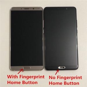 """Image 4 - 5.9 """"orijinal M & Sen Huawei Mate 10 için ALP L09 ALP L29 LCD ekran çerçeve + dokunmatik Digitizer için mate 10 LCD + Fingerprit"""