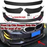 Z włókna węglowego/czarny 3 sztuka uniwersalny przedni zderzak samochodowy wargi podbródka zderzak ciało zestawy Splitter dyfuzor dla BMW dla Benz dla Audi