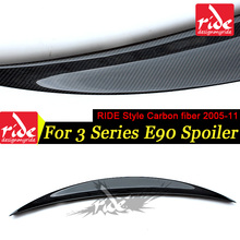 E90 RIDE Style Carbon Fiber Rear Trunk Spoiler Wing Lip For BMW 3-Series 323i 325i 328i 330i 335 335xi Tail Spoiler Wing 2005-11