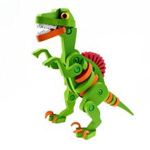 цены на Kids 3D Assembly Velociraptor Dinosaur Shape Puzzle Toy Puzzle Spelling Raptor 3D Puzzle Dinosaur Assembled Educational Toys  в интернет-магазинах