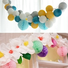 10pc 8cm Tissue Paper Honeycomb Balls Hanging Wedding Birthday Showers Christmas Space Decoration