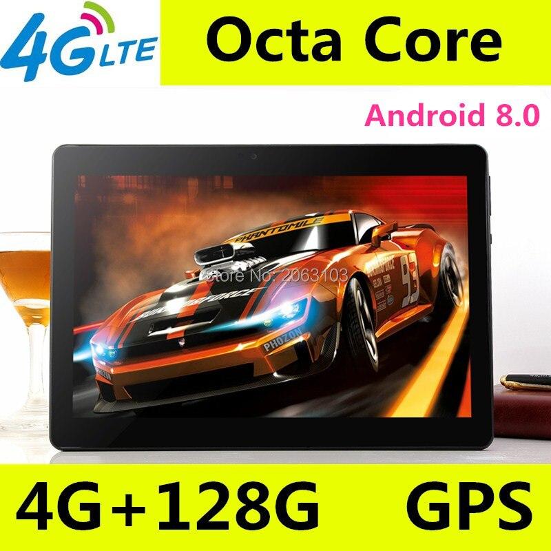 10 дюймов планшетный ПК Octa core 3g 4G LTE Планшеты Android 8,0 Оперативная память 4G B Встроенная память 128 ГБ Dual SIM Bluetooth gps Планшеты 10,1-дюймовые Планшетные...