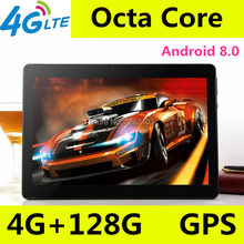 10 inch tablet pc Octa Core 3G 4G LTE Tablets Android 8.0 RAM 4GB ROM 128GB Dual SIM Bluetooth GPS Tablets 10.1 inch tablet pcs(China)