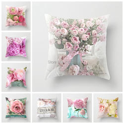 ZENGIA Европейский стиль декоративная подушка для дома крышка Роза бросить подушка для дивана подушка в средиземноморском стиле чехол для