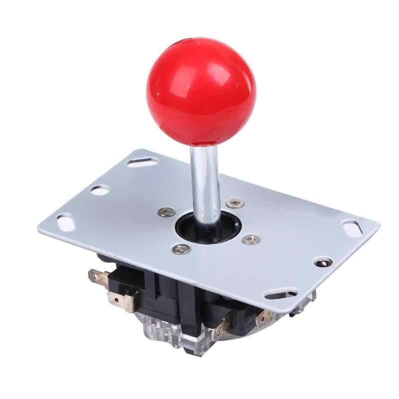 Top Classic 4/8 way Arcade Game Joystick Ball Joy Stick Red Ball Replacement Uses For 4 microswitches to detect on/off position
