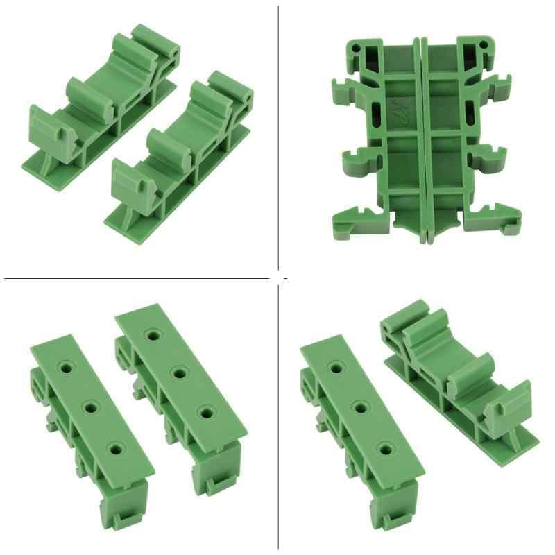Bracket Plastik 10 Set 35 Mm PCB Din C45 Rel Adaptor Papan Sirkuit Pemasangan Braket Carrier