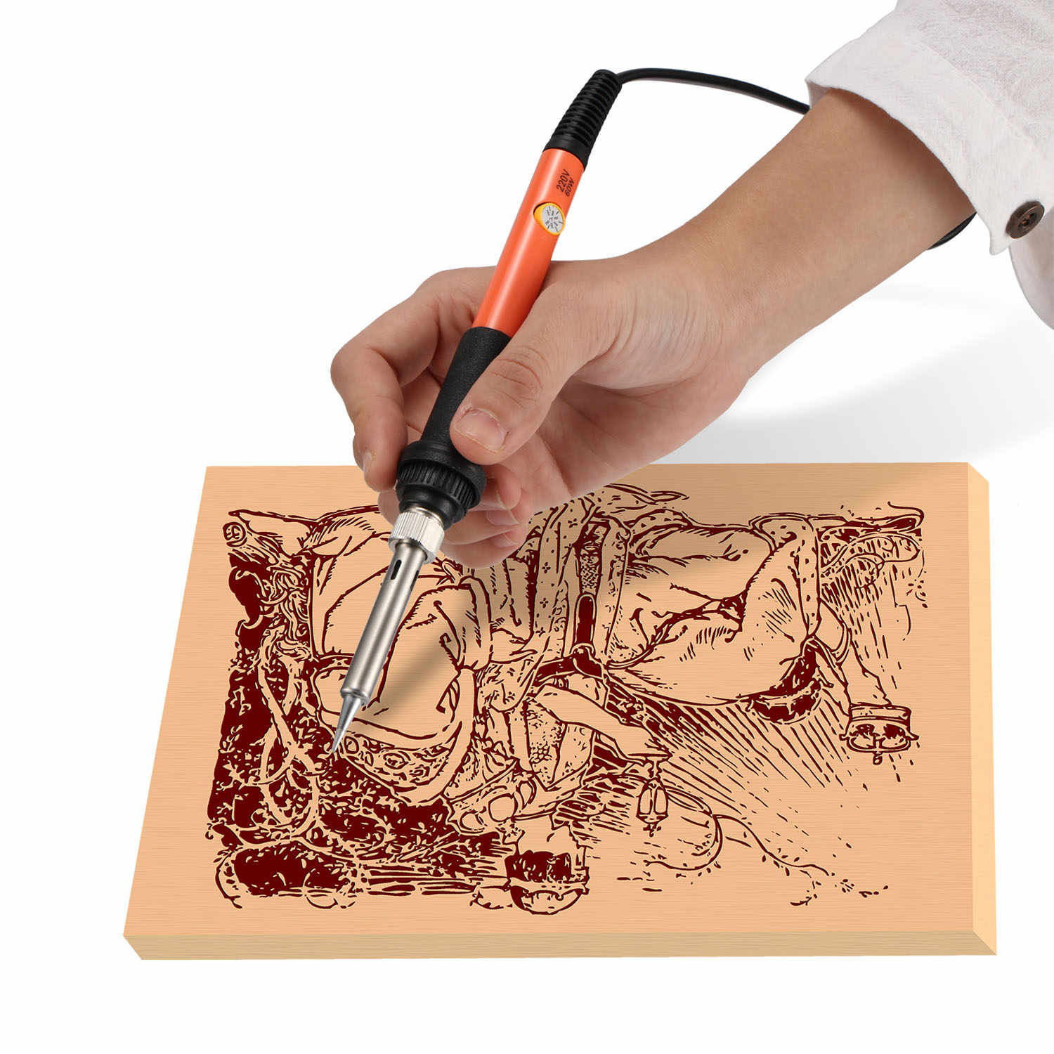 60W Electric soldering iron Wood Burning Kit Best Pyrography
