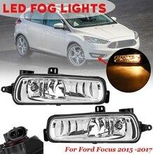 for Ford for Focus 2015 2016 2017 1 Pair Car Front Bumper Fog Lights font b