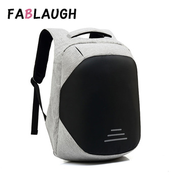 ozuko men backpacks new design waterproof anti theft usb charge large travel bag 15 6 laptop backpack school bags for teenagers FABLAUGH Anti Theft Backpack For Men Backpacks Waterproof Bag USB Charge Backpack 15.6 Inch Laptop Travel Bags Mochila Unisex