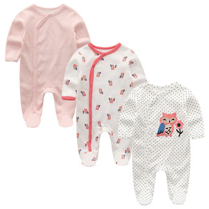 Image 3 - 2020 2/3 adet Bodysuits karikatür kız giyim erkek bebek giysileri 0 12M pamuk bebek kız giysileri yenidoğan çizgili Roupa Bebe