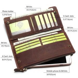 Image 3 - Tauren 100% 本革のクラシック財布最高のクレイジーホースレザーメンズ財布のファッション男性財布