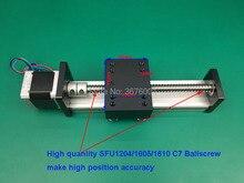 200mm Effctive Length SFU1605 C7 16mm Ballscrew Linear Motion Guide Rail Slide Sliding Table SGK+Nema23 Stepper Motor