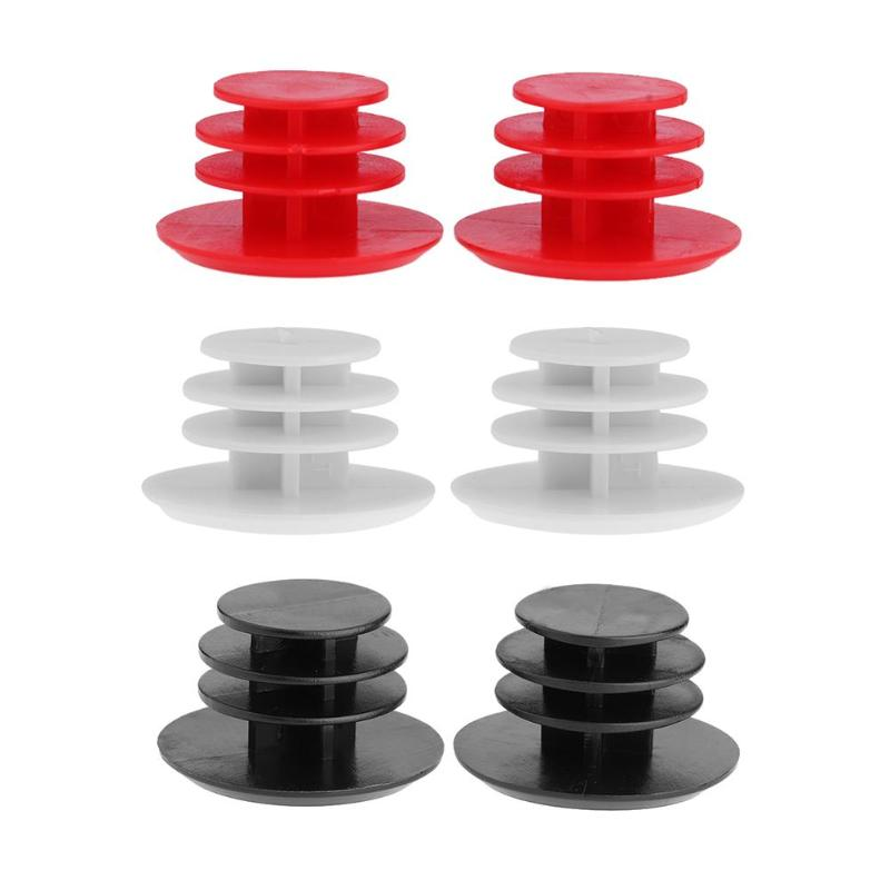 1 Pair MTB Road Bike Handlebar Caps Bicycle Handlebar Plugs Plastic PVC Firm Handle Grip Bar End Stoppers MTB Bike Accessory