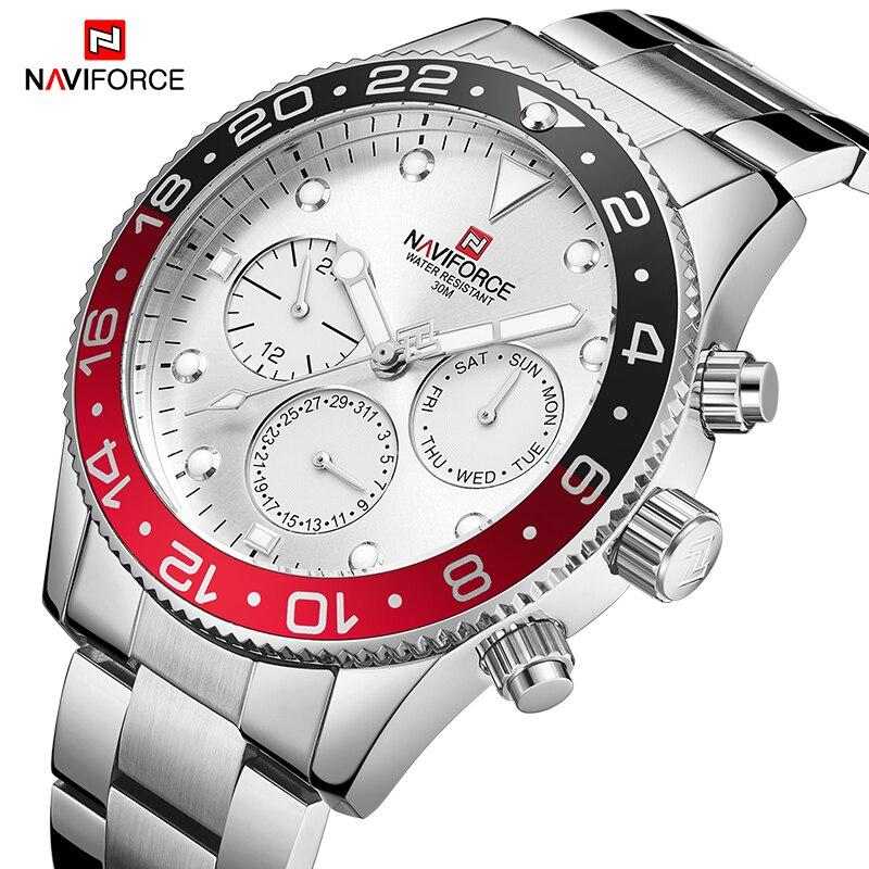 NAVIFORCE Relogio Masculino Men Watch Top Brand Luxury Sport Waterproof Military Wristwatch Leather Quartz Male Clock 9147