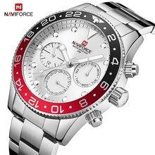 NAVIFORCE, reloj para hombre de marca superior, relojes de pulsera deportivos de lujo, resistentes al agua, relojes de cuarzo de acero inoxidable para hombre, reloj Masculino